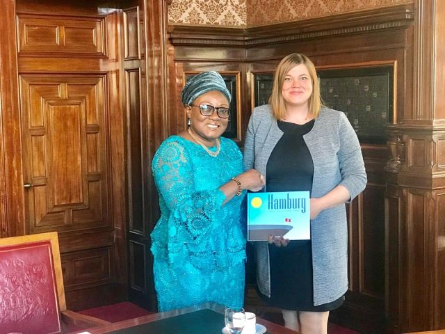 HER EXCELLENCY AMBASSADOR GINA BLAY MAKES AN OFFICIAL TRIP TO HAMBURG
