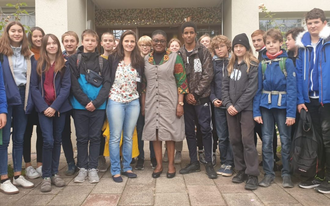 THE VISITING OF THE STUDENTS TO OUR EMBASSY IN BERLIN GERMANY