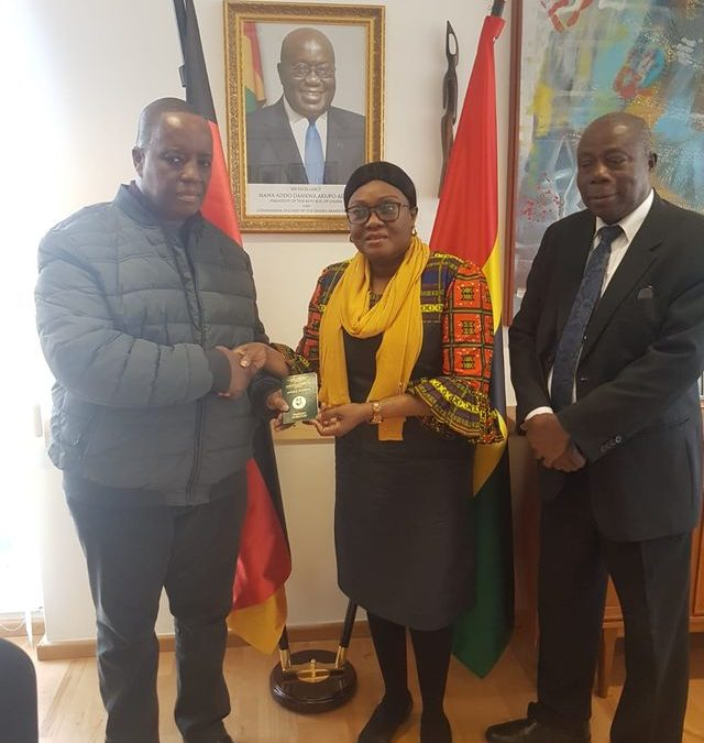 EMBASSY OF GHANA IN BERLIN STARTS ISSUING 10-YEAR VALIDITY PASSPORT