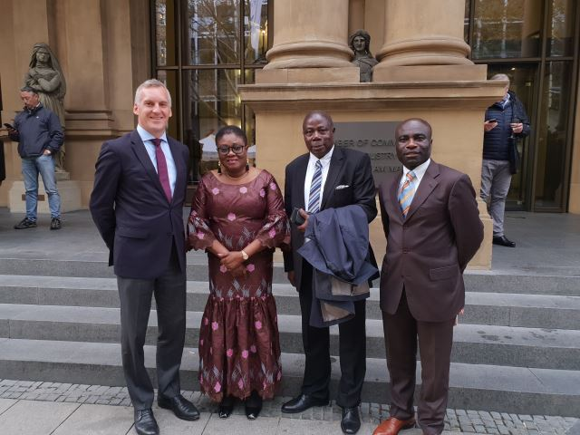 HER EXCELLENCY AMBASSADOR GINA BLAY MAKES AN OFFICIAL TRIP TO FRANKFURT